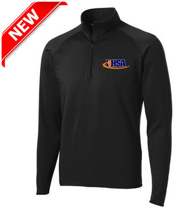 Jackets:   1/4 Zip Stand Up Collar Referee Jacket w/Logo (JT-850L)