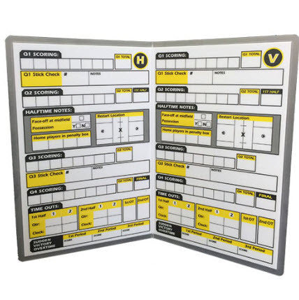 Accessories:  Ref Smart™ NFHS Lacrosse Game Card (RS-LGC)