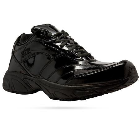 Shoes: 3N2 Reaction Low-Cut Patent Leather Referee Court Shoes -- Solid Black (SH-32BKP7)