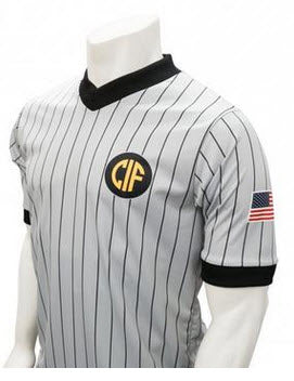Shirts:  Smitty California CIF Logo MADE IN THE USA Grey Dye-Sublimated Short Sleve Shirt (ST-CAG)