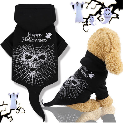 Skull Skeleton Puppy Halloween Costume Pet Warm Clothes For Halloween Pet Dog Coat Jacket Cosplay Puppy Clothing