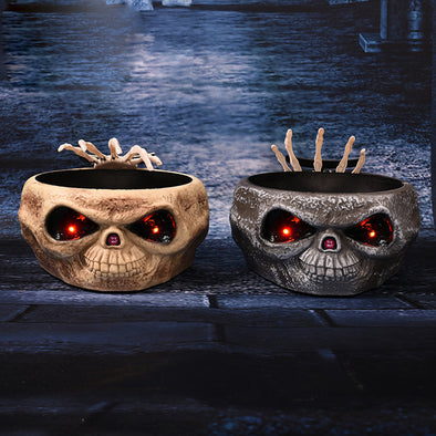 Skull Fruit Tray Halloween Prank Props Horror Ghost Hand Candy Box Home Party Decorations Prop Bar Tricky Toy  Decoration Scary