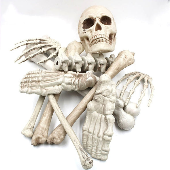 decoration halloween skeleton haloween decor horror house props Skull Head party accessories supplies terror mischief scary home