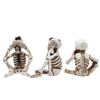 Skeleton halloween decoration Prop home decor accessories Party supplies Skull horror ealistic Bones Human Crafts scary model
