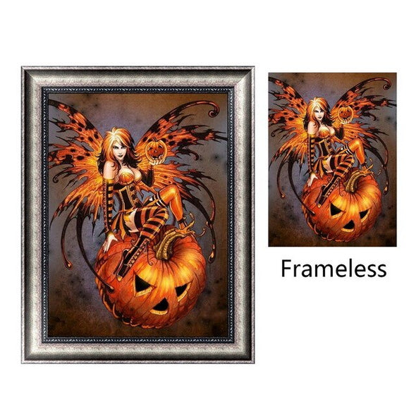 DIY Halloween Embroidery Cross Stitch 5D Resin Diamond Painting Crafts Art For Halloween Party Creative Home Decor Supplies