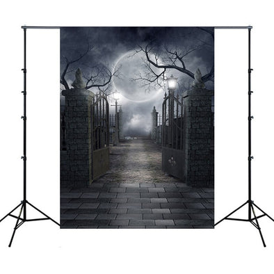 1PC Halloween Mysterious Photography Backgrounds For Photo Studio Customized Old Trees Castle Night Party Photographic Backdrops