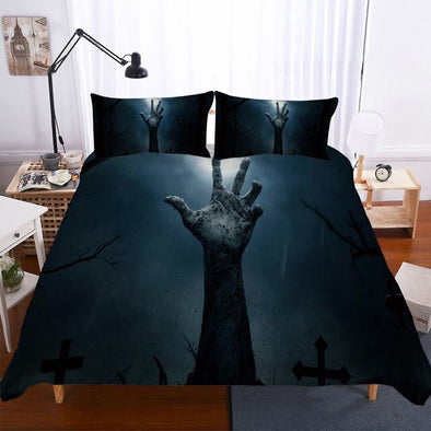 BEST.WENSD Best-seller Halloween bed cover set California king Queen Kid single bedding cover set American style Duvet coverset