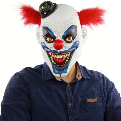 Crazy clown mask Scary Halloween Props Funny Monster Masks For Party Joker Mask Dancing Horror Masks Toothy Clown Fancy Decor