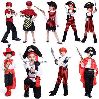 AliExpress Hot Halloween costume for children Pirate Captain Pirate Cosplay masquerade costumes