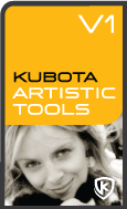 Kubota Artistic Tools V1 Photoshop Action Pak product box shot