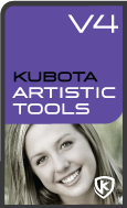 Kubota Artistic Tools V4 Photoshop Action Pak product box shot