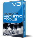 Kubota Artistic Tools V3 Photoshop Action Pak product box shot