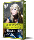Kubota Creative Tools Lensbaby Photoshop Action Pak product box shot