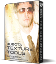 Kubota Texture Tools Industrial Photoshop Action Pak product box shot