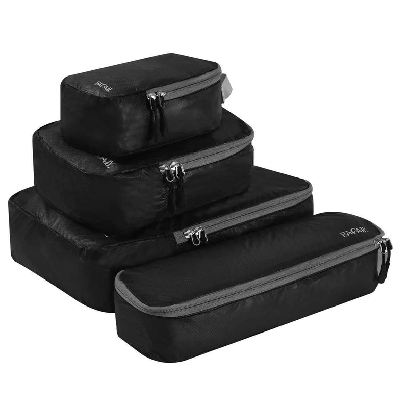 BAGAIL 4 Set Ultrathin Packing Cubes Travel Packing Organizers for Luggage or Carry On Backpack
