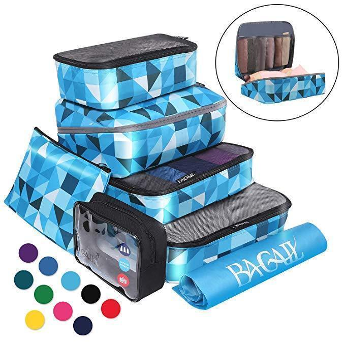 BAGAIL 7 pcs Packing Cubes Expandable Packing Organizers for Travel Accessories