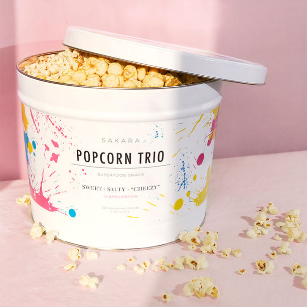 Sakara Popcorn Trio: <br> our favorite summer snack in a limited-edition summer tin
