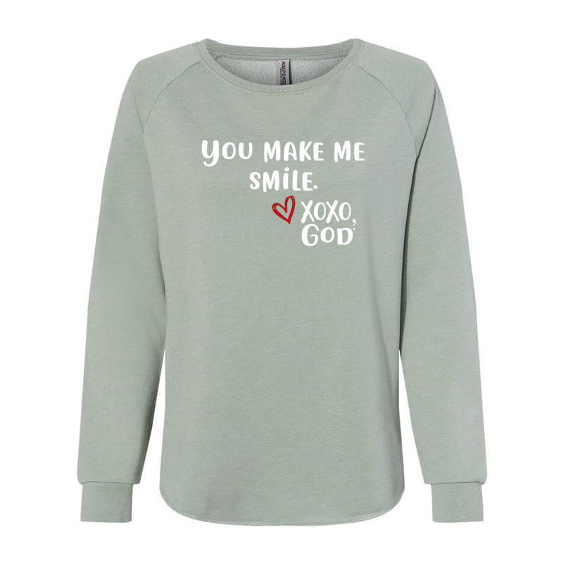 Women's Crewneck Sweatshirt - You make me smile.