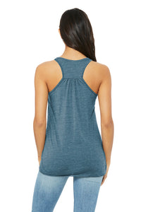 Women's Racerback Tank - Be Strong and Courageous.