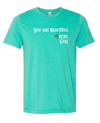 Unisex Tee - You are Beautiful.   New Summer Colors!