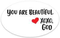Oval Sticker - You are Beautiful.