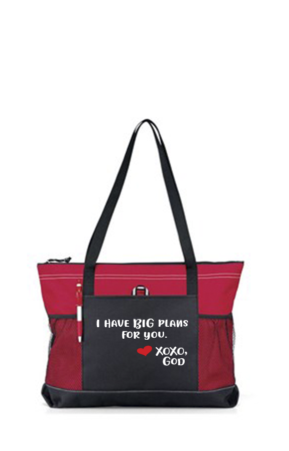 Zippered Tote Bag - I Have BIG Plans For You.