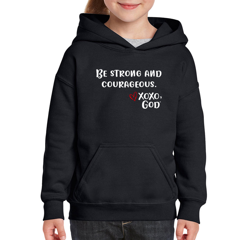 Youth Unisex Hoodie - Be Strong & Courageous.