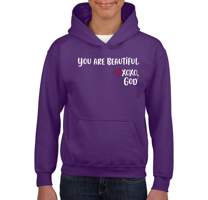 Youth Unisex Hoodie - You are Beautiful.