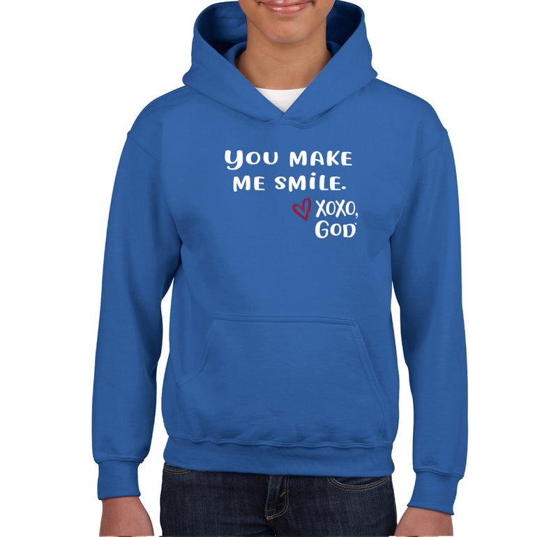 Youth Unisex Hoodie - You make me smile.
