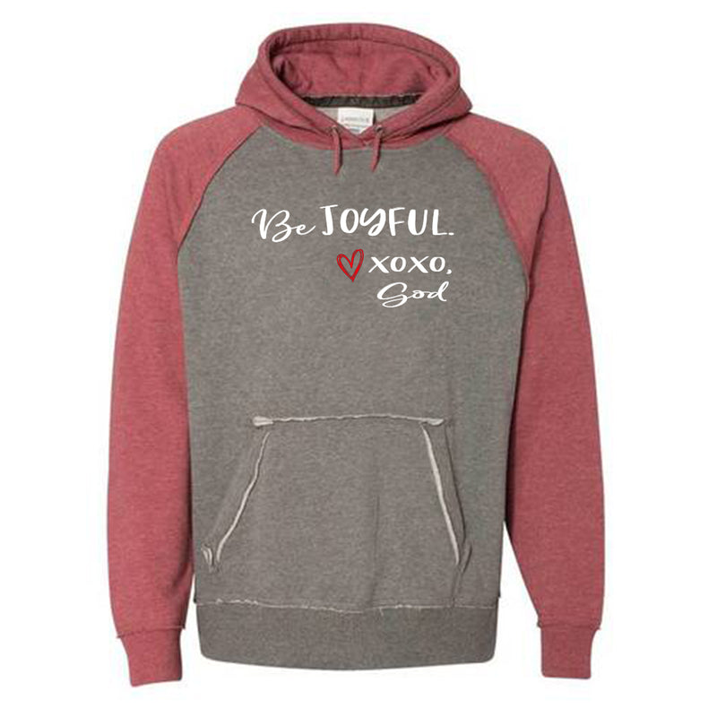 Unisex Raglan Sleeve Hoodie - Be Joyful! -- Limited Edition!