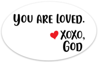 Oval Sticker - You are Loved.