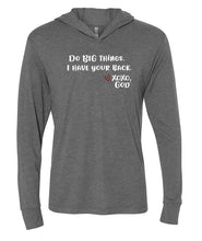 Load image into Gallery viewer, Lightweight Tri-blend Unisex Hoodie -Do BIG things. I have your back.