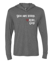 Load image into Gallery viewer, Lightweight Tri-blend Unisex Hoodie -You are loved.