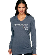 Load image into Gallery viewer, Lightweight Tri-blend Unisex Hoodie -You are precious.