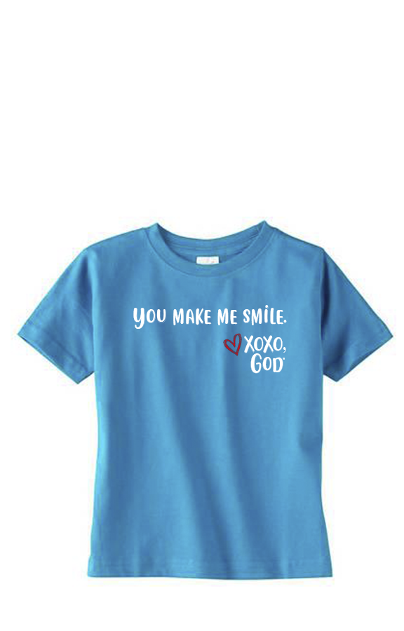 Toddler Unisex Tee Shirt -You make me smile.