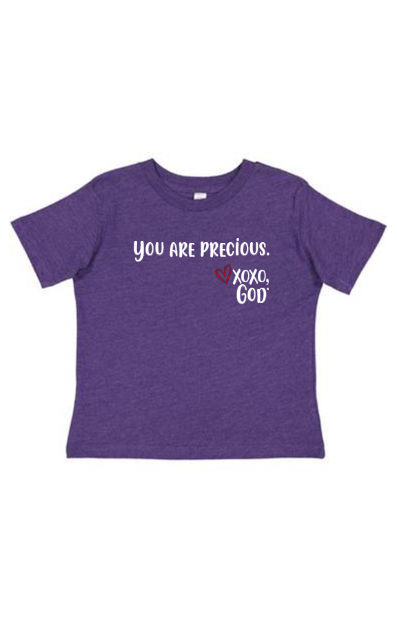 Toddler Unisex Tee Shirt -You are precious.