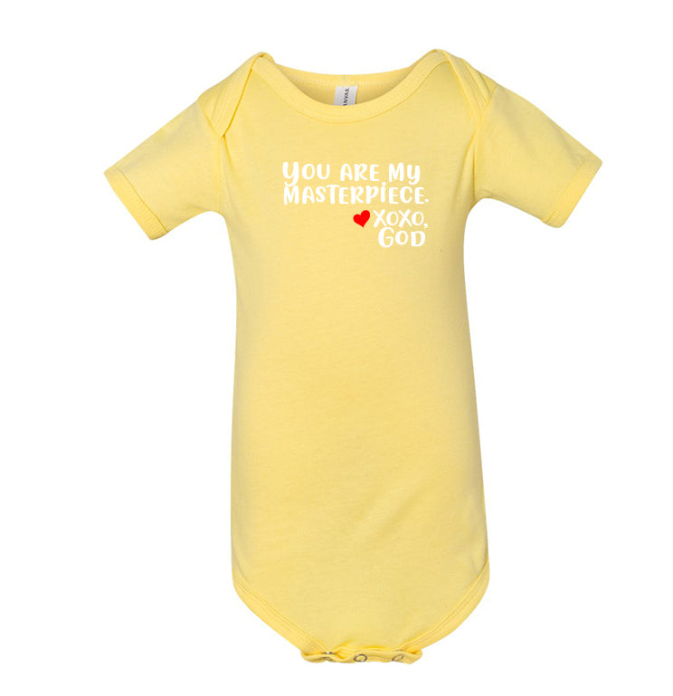 Infant/Toddler Onesie - You are my masterpiece.
