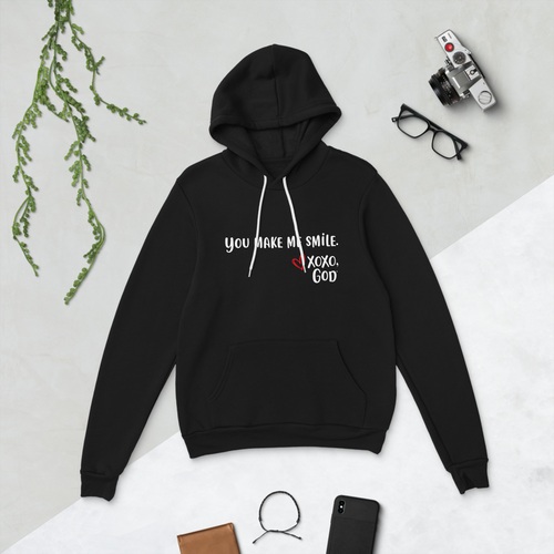 Unisex Hoodie - You make me smile.