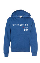 Load image into Gallery viewer, Youth Hoodie - You are Beautiful.