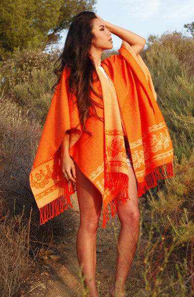 LIMITED EDITION Neon Orange Poncho