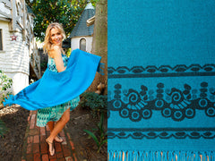 Bright Teal Classic Women's Poncho