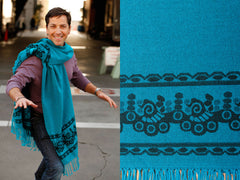 Bright Teal Classic Men's Poncho