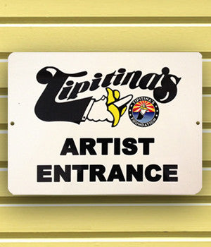 "Artist Entrance Sign, 9"" x 12"" Aluminum"