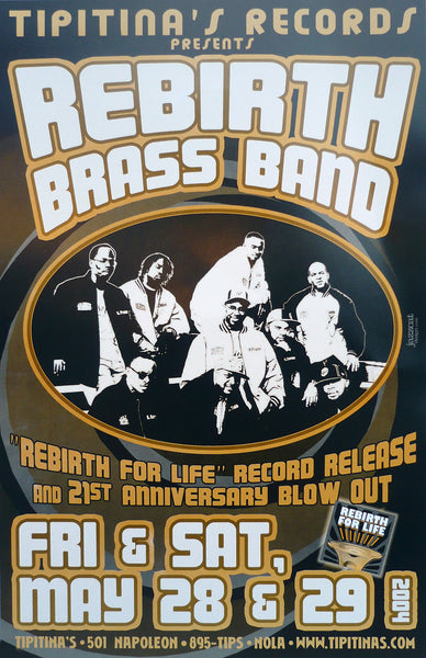 Rebirth Brass Band's 21st Anniversary and record release Poster  (2004)