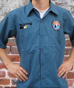 Embroidered Work Shirt- 3 colors