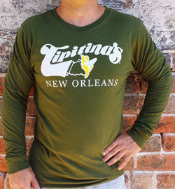 Tipitina's Long Sleeve Jersey - Olive Green- 50% OFF