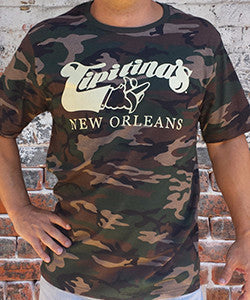 Tipitina's Camo T-Shirt- S, M, L, and XL ONLY- CLEARANCE SALE