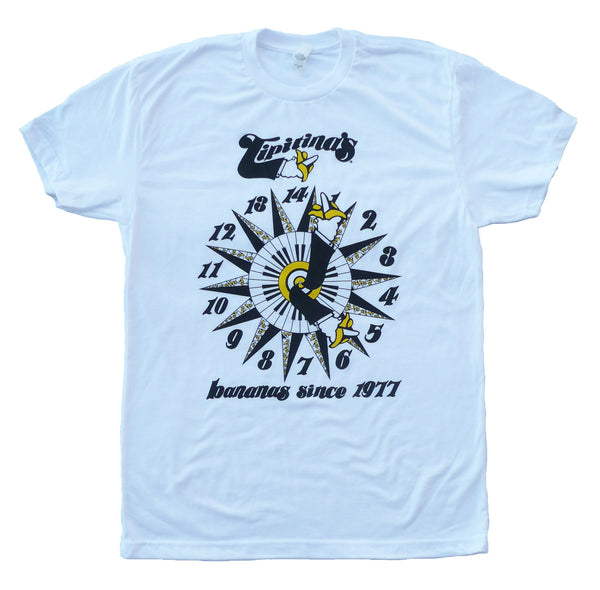 Bananas Clock Tee by artist Melodie Provenzano