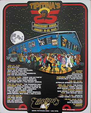Tipitina's 25th Anniversary Poster (2003)