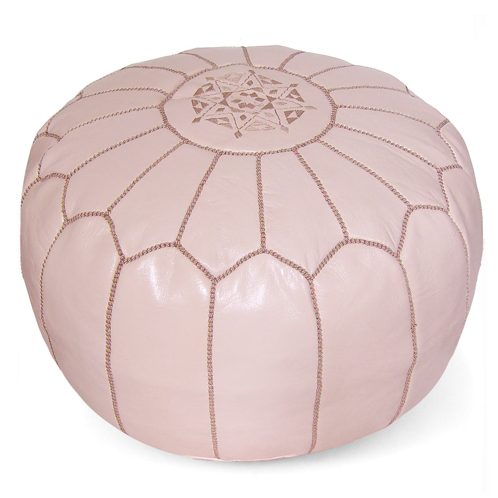 Moroccan Pouf in Papaya Whip - Hattan Home - 2
